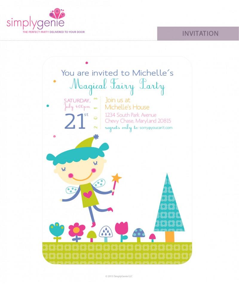 Purple fairy birthday party invitations filmwisefo