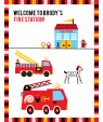 Fire Truck Birthday Party Poster