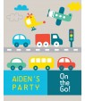 On the Go Birthday Party Poster