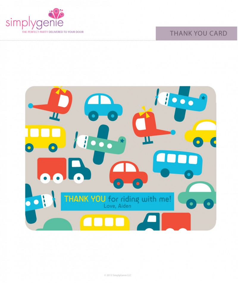 The go birthday party thank you cards on the go birthday party thank you cards bookmarktalkfo Image collections