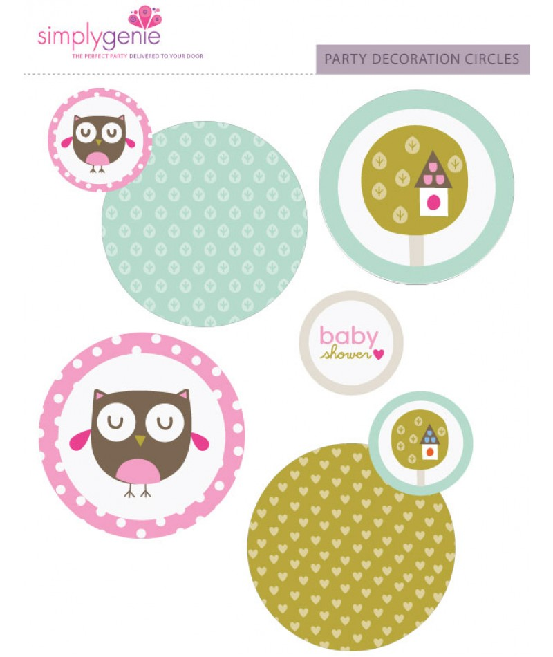 home shop baby showers pink owl baby shower party in a box