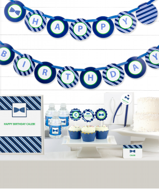Bow Tie Birthday Party Decor Kit