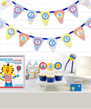Circus Birthday Party Decor Kit