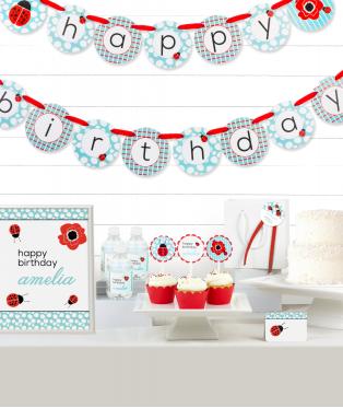 Ladybug Birthday Party Decor Kit