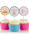 Bake Shop Birthday Cupcake Toppers
