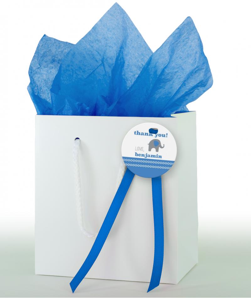 Blue Elephant Birthday Party Decor Kit