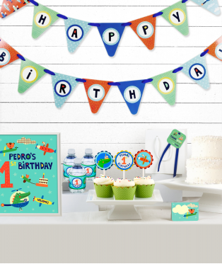 First Birthday Party Decor Kit for Boys