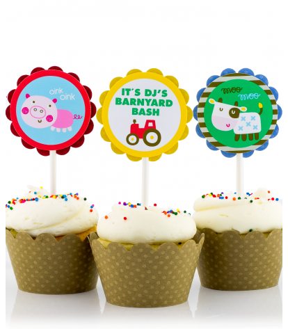 Animated birthday cupcakes