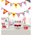 Fire Truck Birthday Party Decor Kit