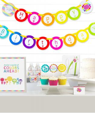 Rainbow Birthday Party Decor Kit