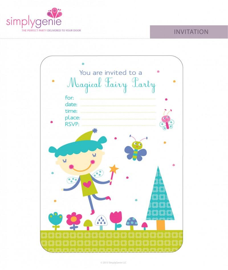 purple fairy birthday party invitations